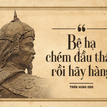 10 sentences saved the history of Hung Dao Vuong Tran Quoc Tuan