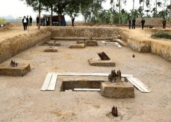 Công trường khảo cổ bãi cọc nhà Trần
